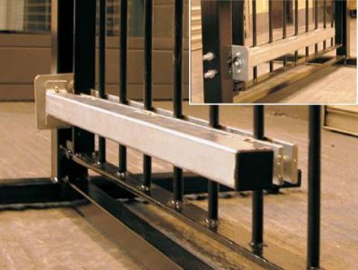 Gate closer Adapt-A-Gate provides a robust closing system for most types of gates. Robust construction.