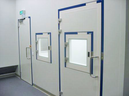 & Interlock control system clean room installation with 40 doors