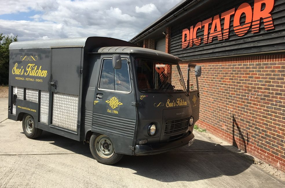 Dictator Gas Springs solve problem for retro Catering Van